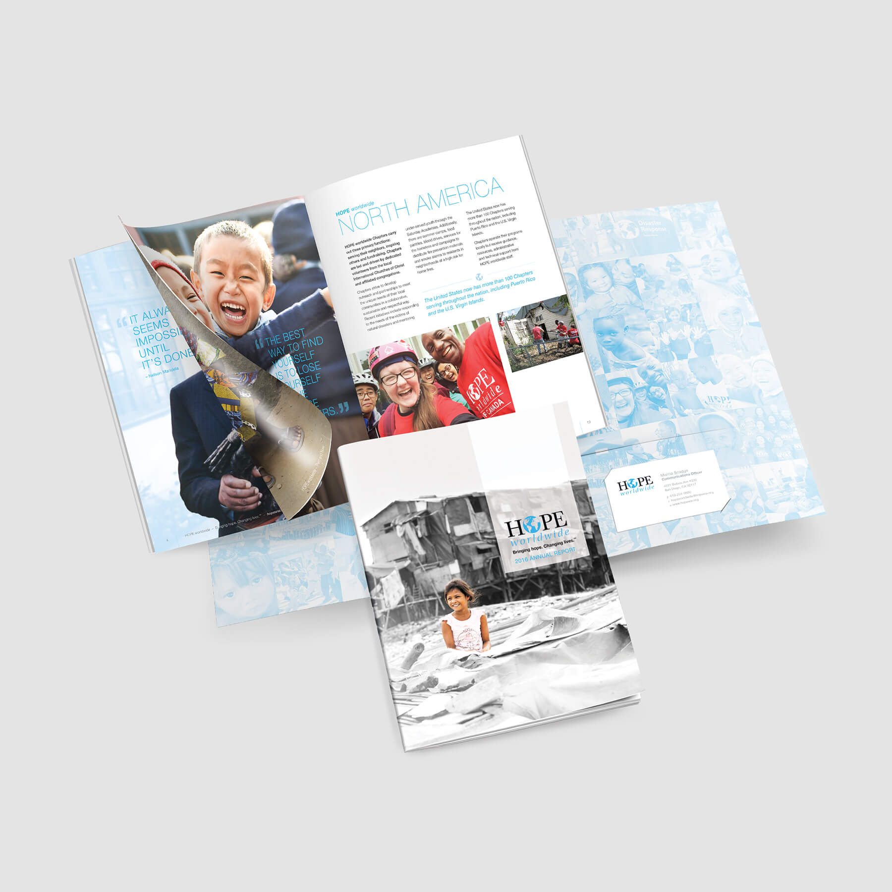Nonprofit Pocket Folder and Annual Report Combination