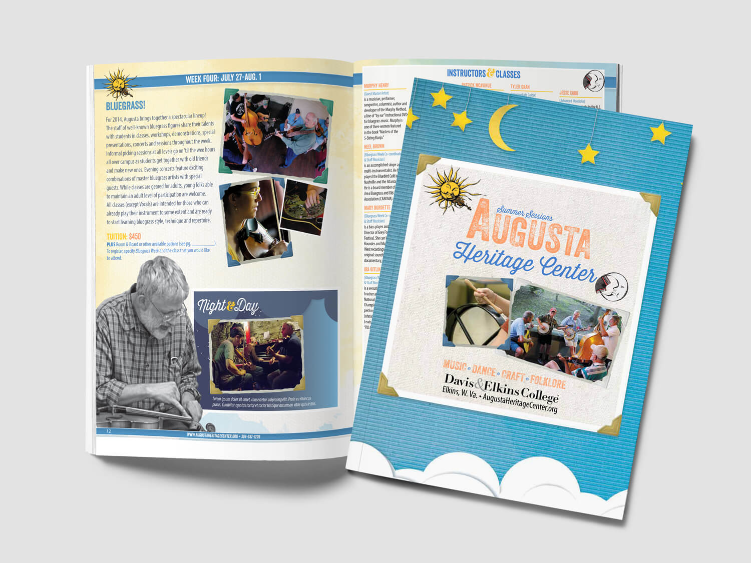 Design for heritage festival catalog of events and classes