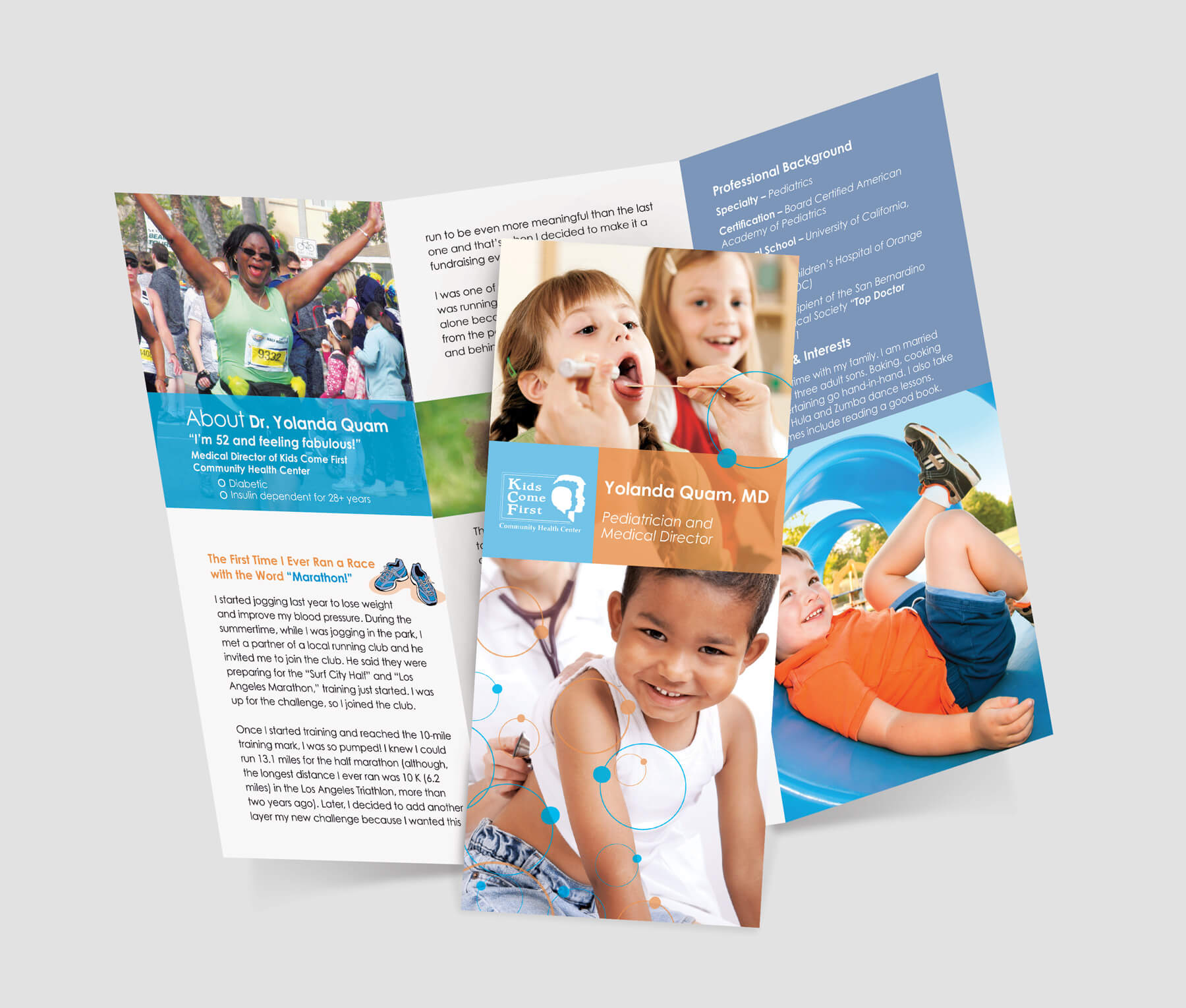 Pediatric brochure design