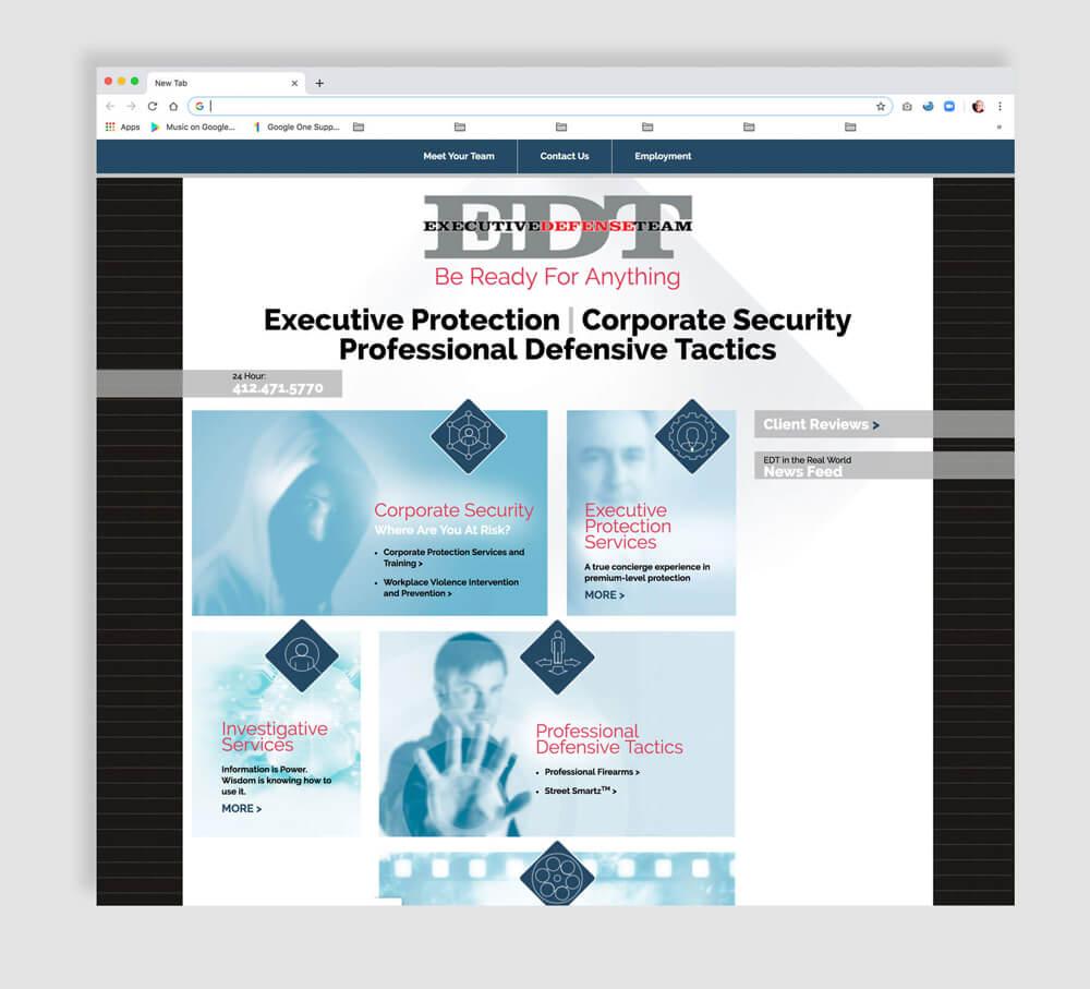 Corporate security website development