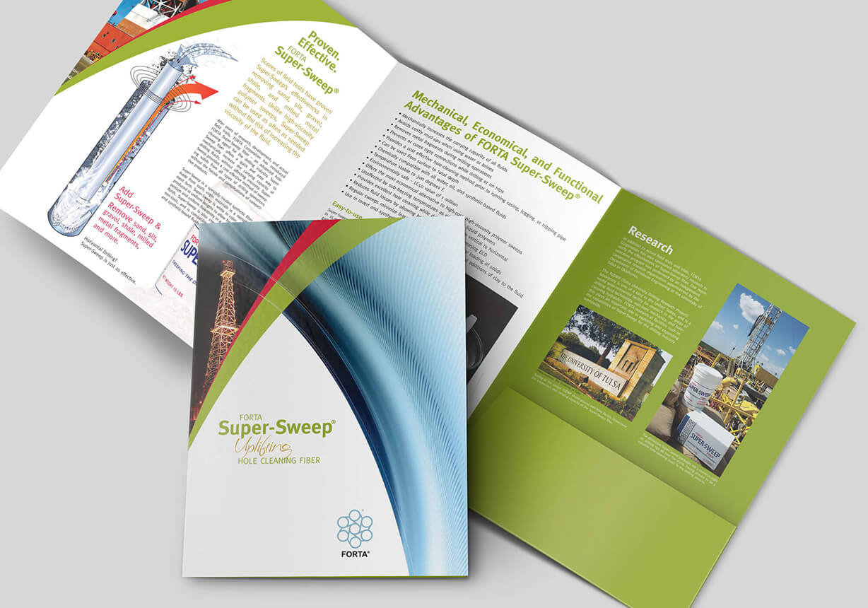 Industrial Pocket Folder design with 6 panels and right-hand pocket