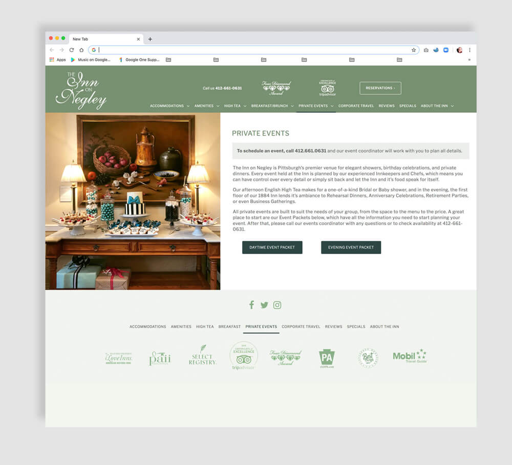 Luxury inn sample web page design
