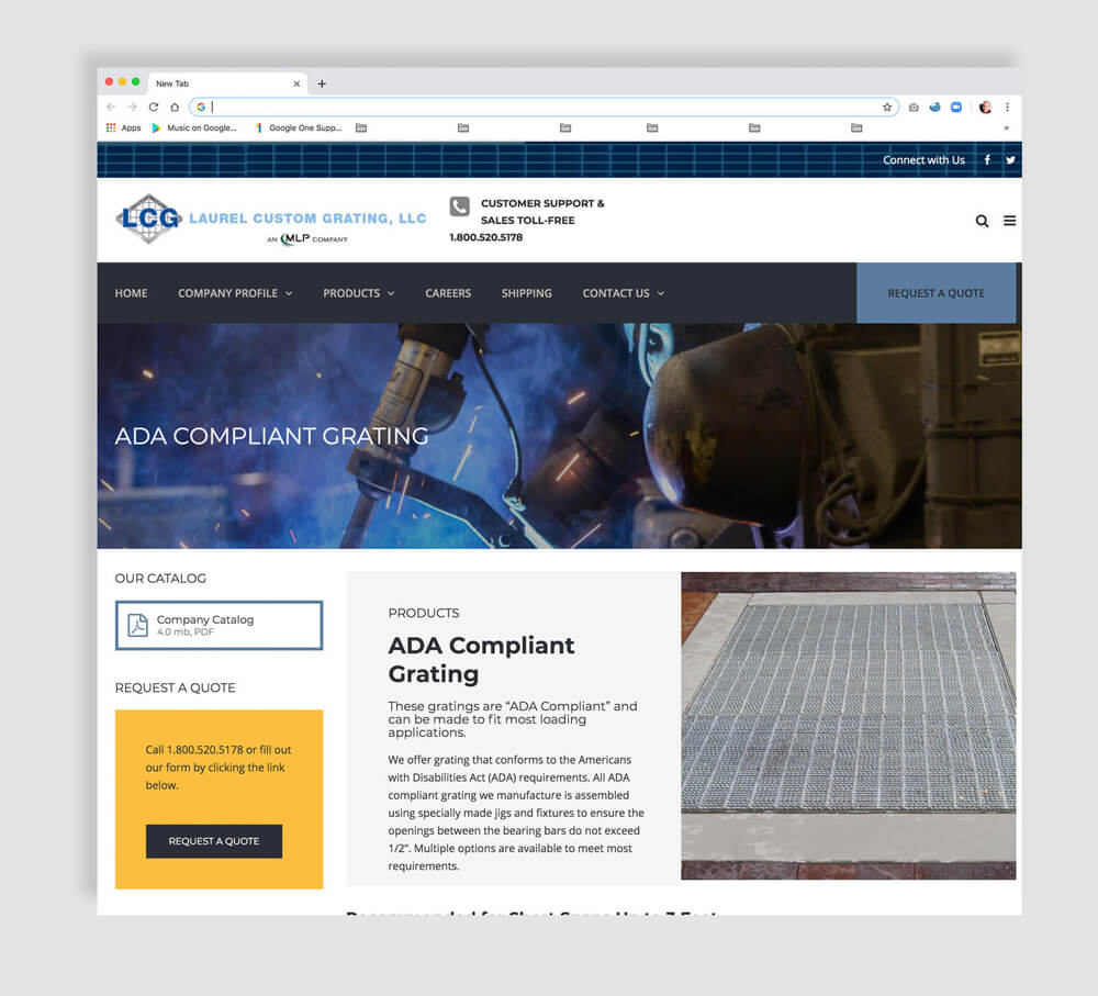 Heavy Industry Steel Manufacturing web page sample