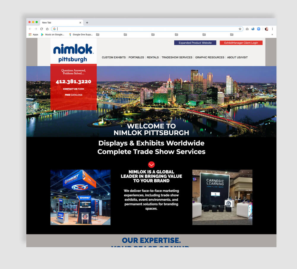 Web design for tradeshow displays and exhibits