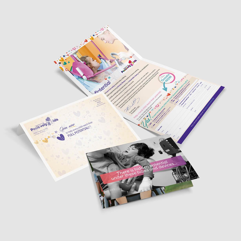 Positively Kids Foundation for medically-fragile kids mailer