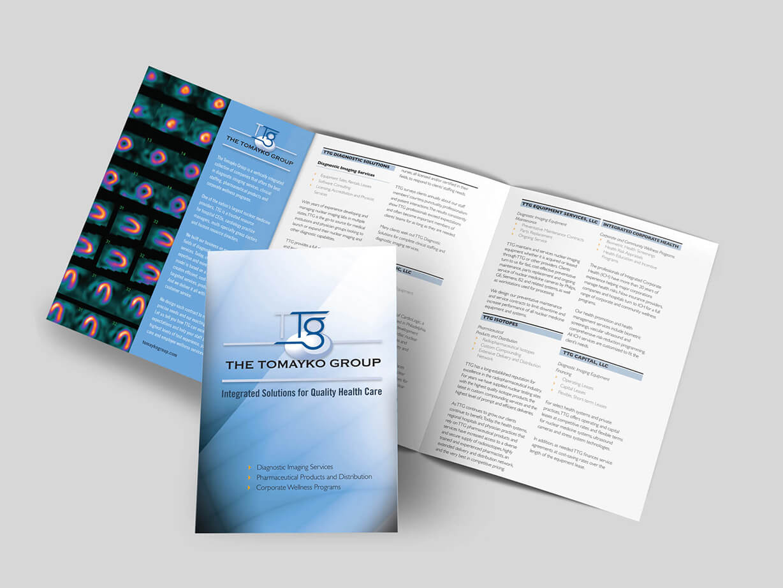 Medical imaging brochure design sample