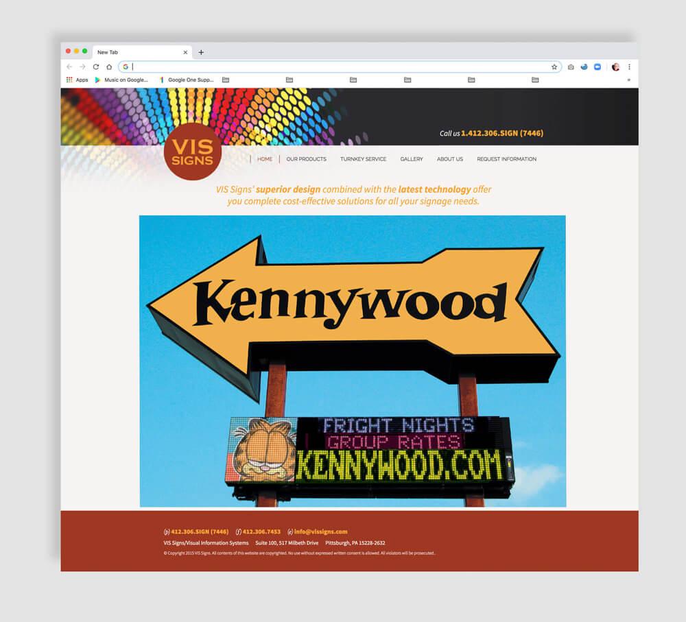 Web design for sign maker business