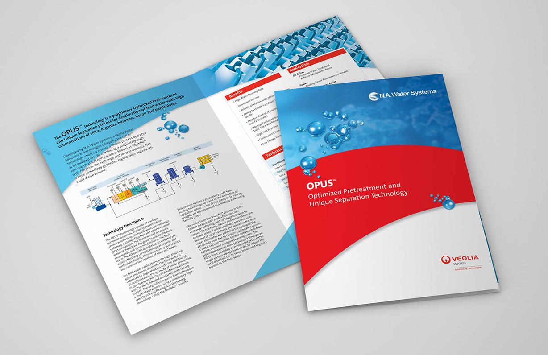 Water treatment brochure design example