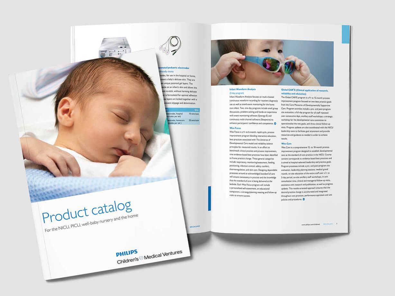 Infant medical products catalog design