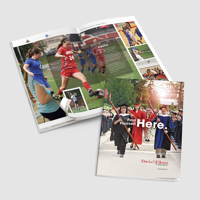 Davis & Elkins College View Book design sample