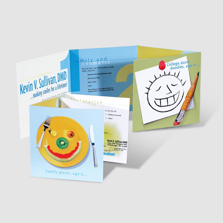 Dentist's multi-panel brochure design