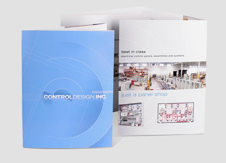 Panel shop 8-page extra-large brochure design