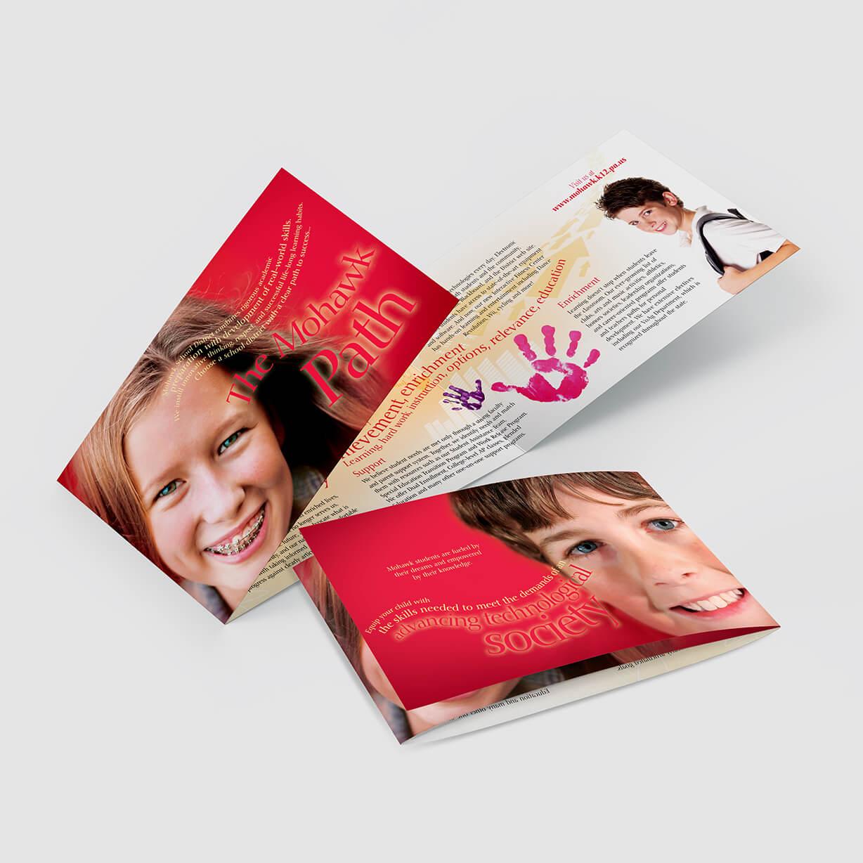 Colorful high school brochure design