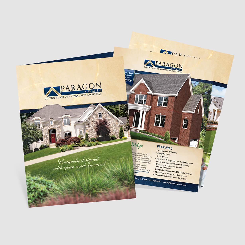 Home Builders Pocket Folder Design. Includes many inserts