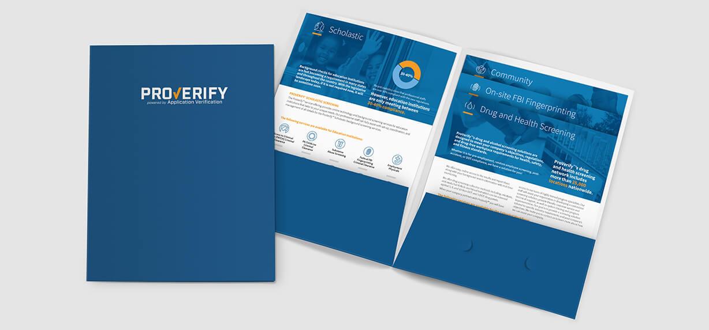 Pocket folder design with stair-step inserts