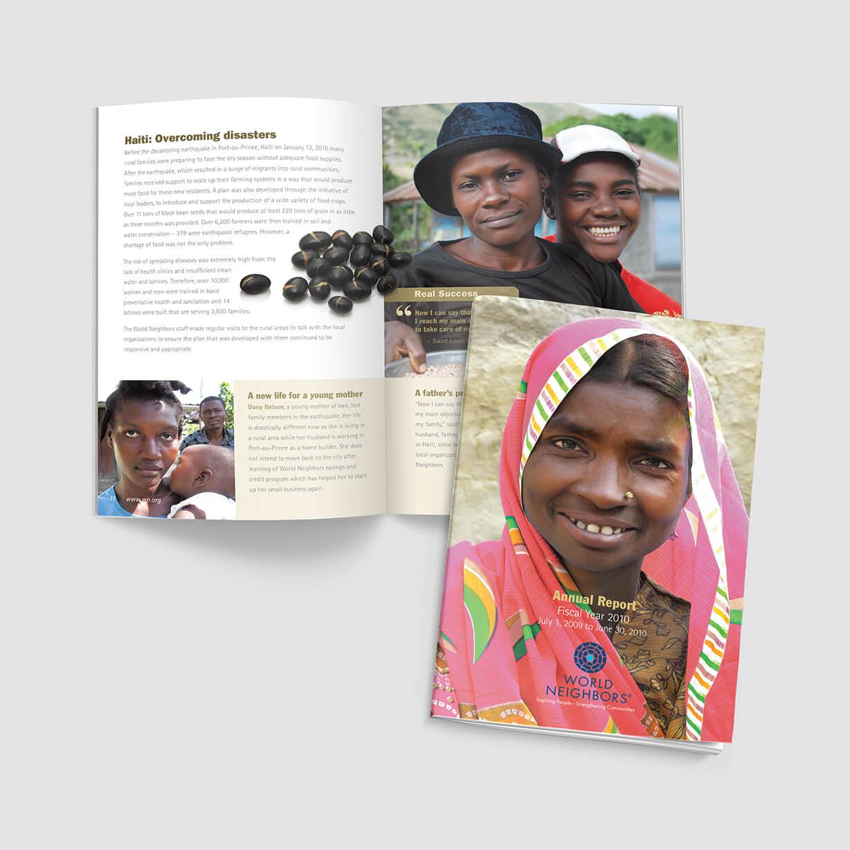 Annual report design sample for nonprofit
