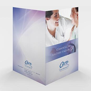 Pocket Folder Design for Home Healthcare