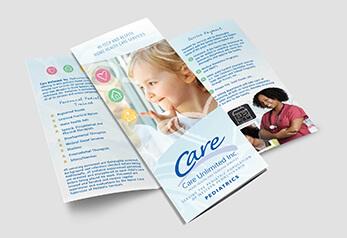 Pediatric home health care brochure graphic design