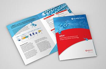 Industrial water treatment brochure design example