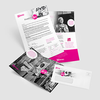 2-Color direct marketing annual campaign example