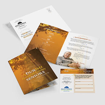 Meals on Wheels donor solicitation direct mail package