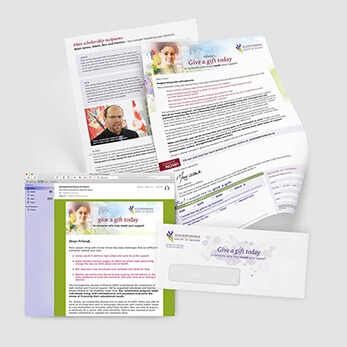 Direct Mail & Email combine for a donor campaign