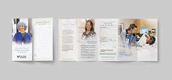Hospital, Healthcare, Nursing Brochure with Donor Form