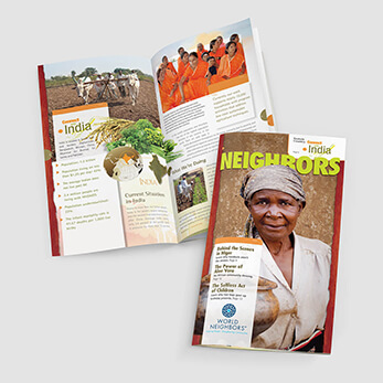 Newsletter and magazine for international nonprofit