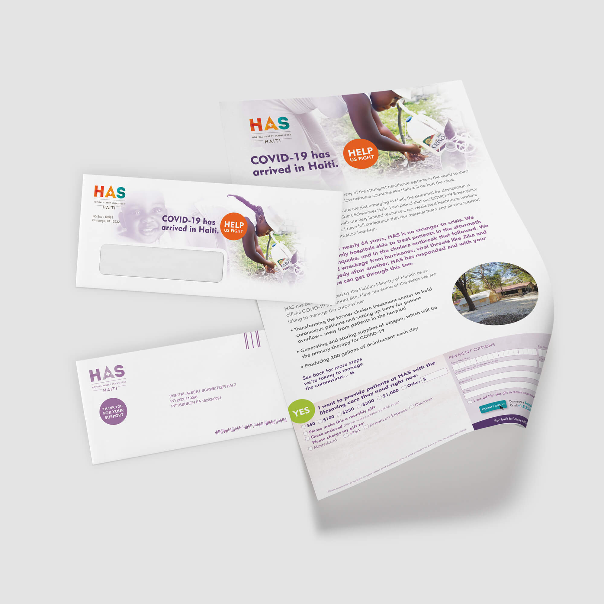 Letterhead with Donor Coupon
