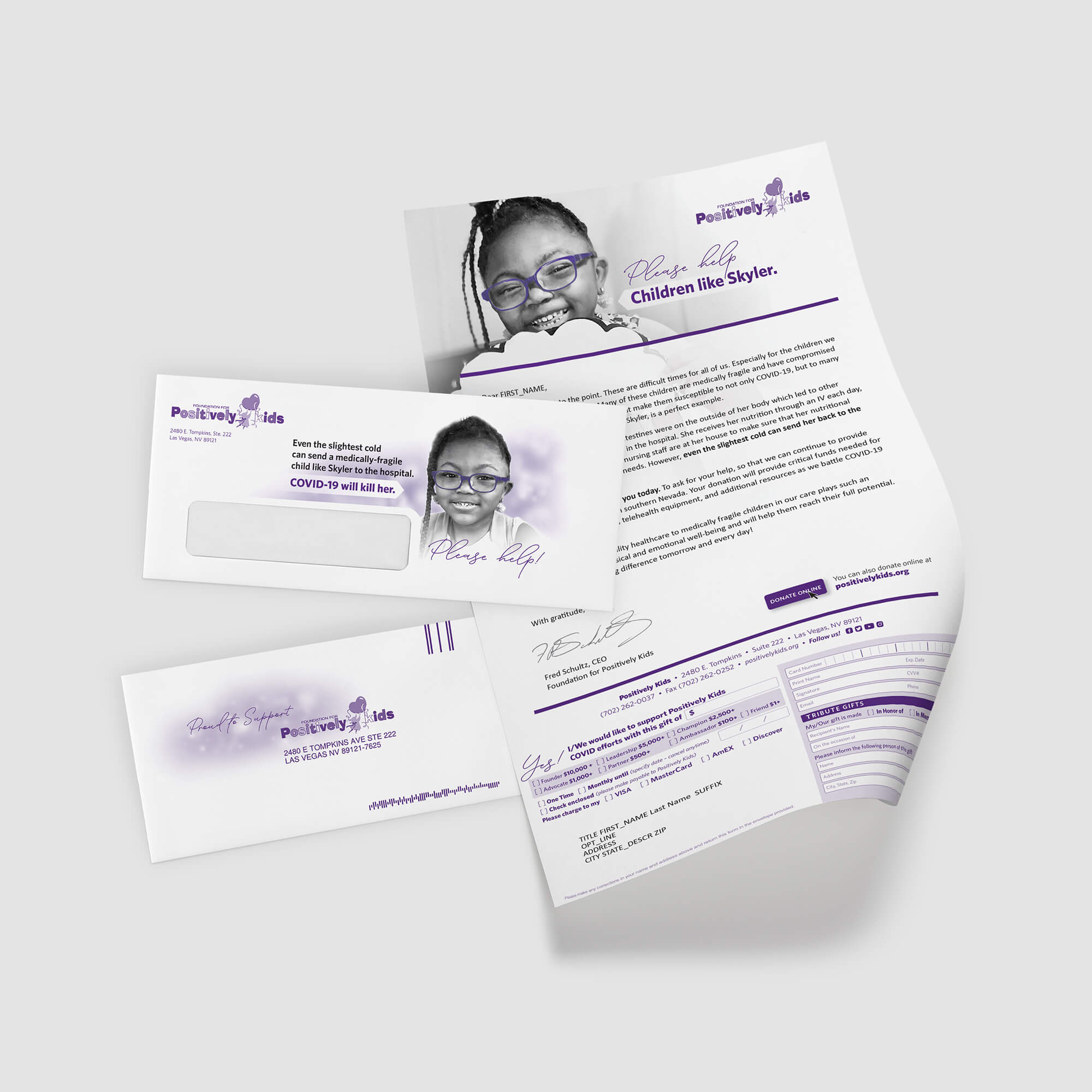 COVID-19 Direct Mail Campaign for Kids