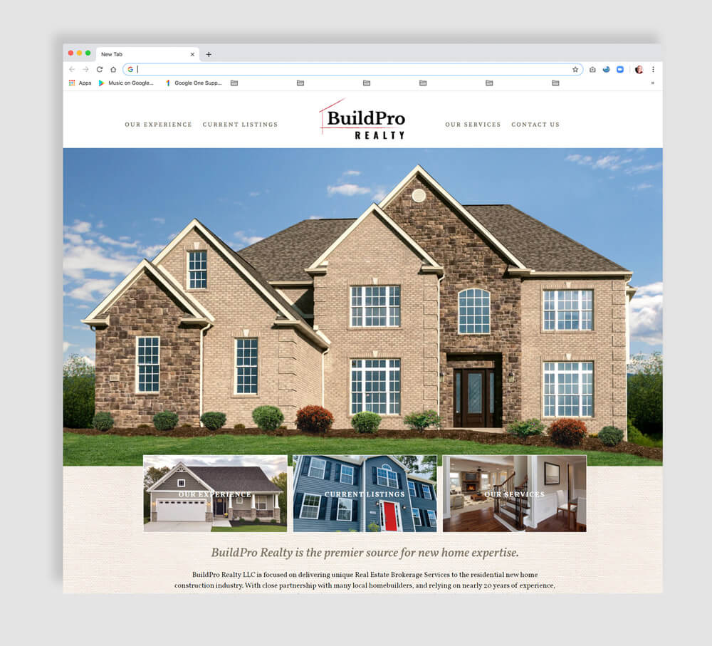 Realty Website design home page