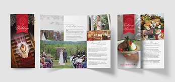 Wedding and catering brochure designs