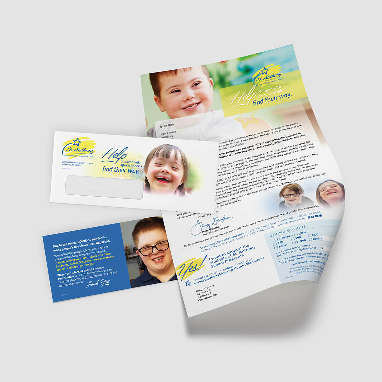 Mail campaign: Faith-based school for special-needs kids requests donations