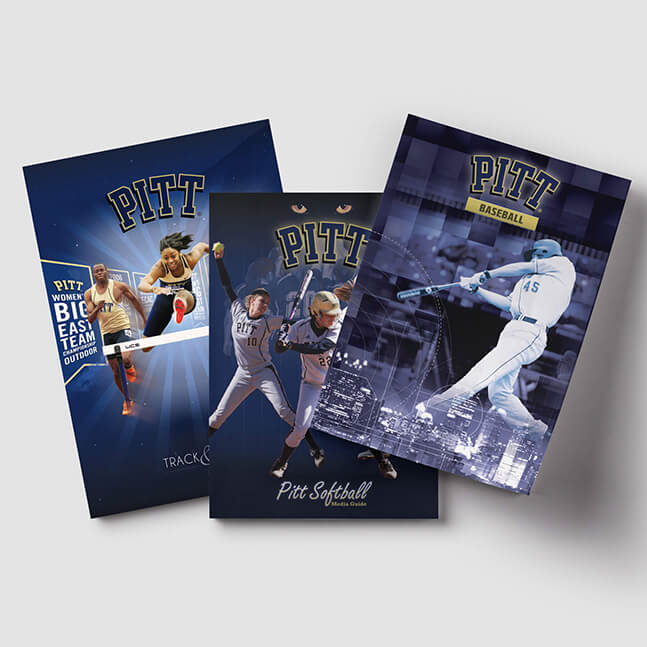 Sports programs and magazine design samples University of Pittsburgh