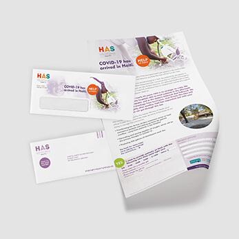COVID-19 Nonprofit Direct Mail Campaign Sample