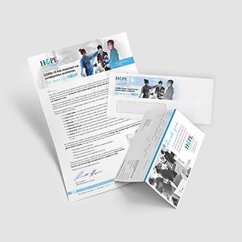 Nonprofit direct mail letter sample