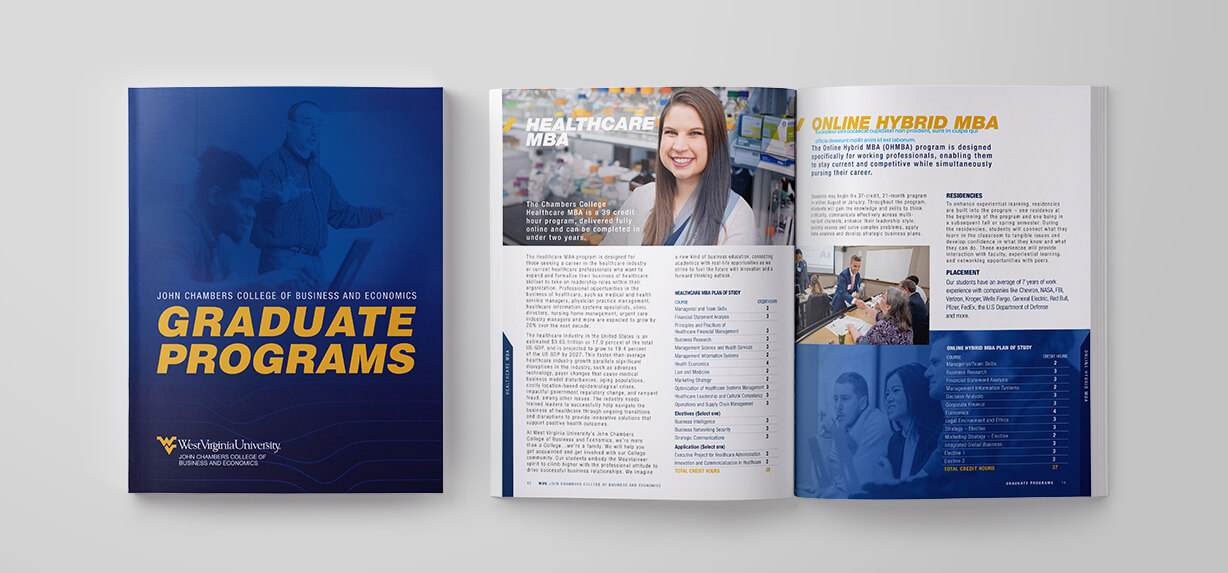West Virginia University Graduate Programs Catalog Design