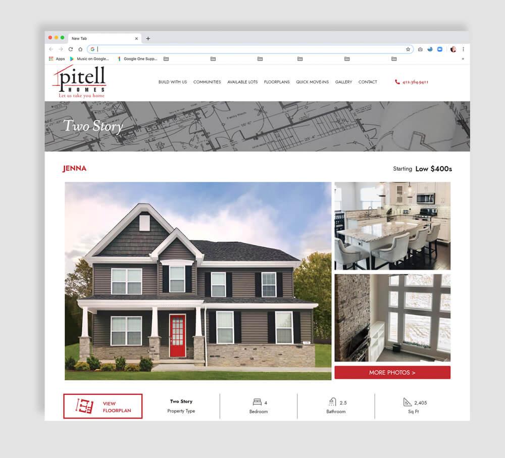 Home Builder Website Interior page